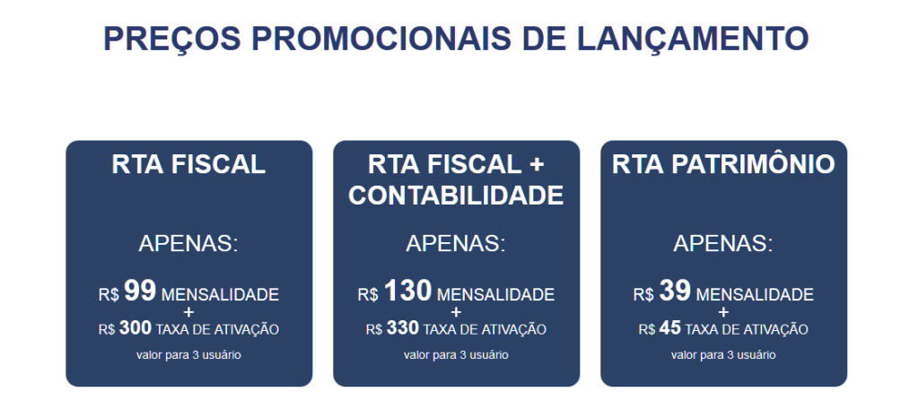 Preços Promocionais na aquisição de combos